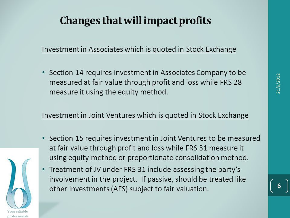 Changes that will impact profits