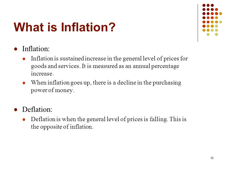 What is Inflation Inflation: Deflation: