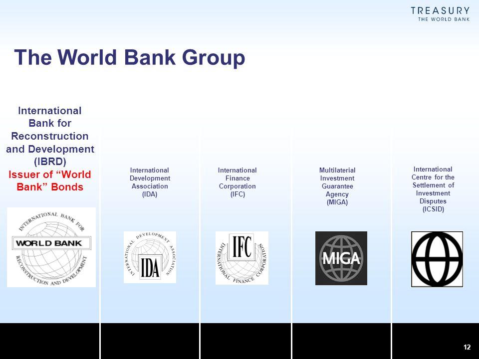 The World Bank Group International Bank for Reconstruction and Development (IBRD) Issuer of World Bank Bonds.