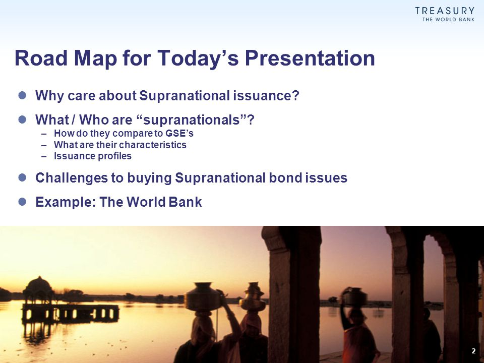 Road Map for Today's Presentation