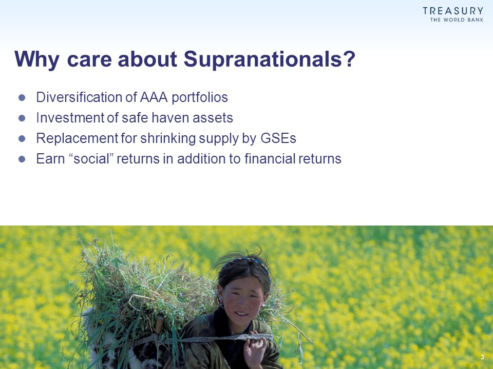 Why care about Supranationals