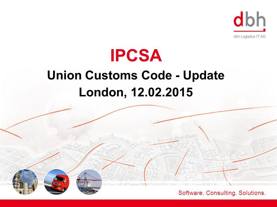 Union Customs Code - Update