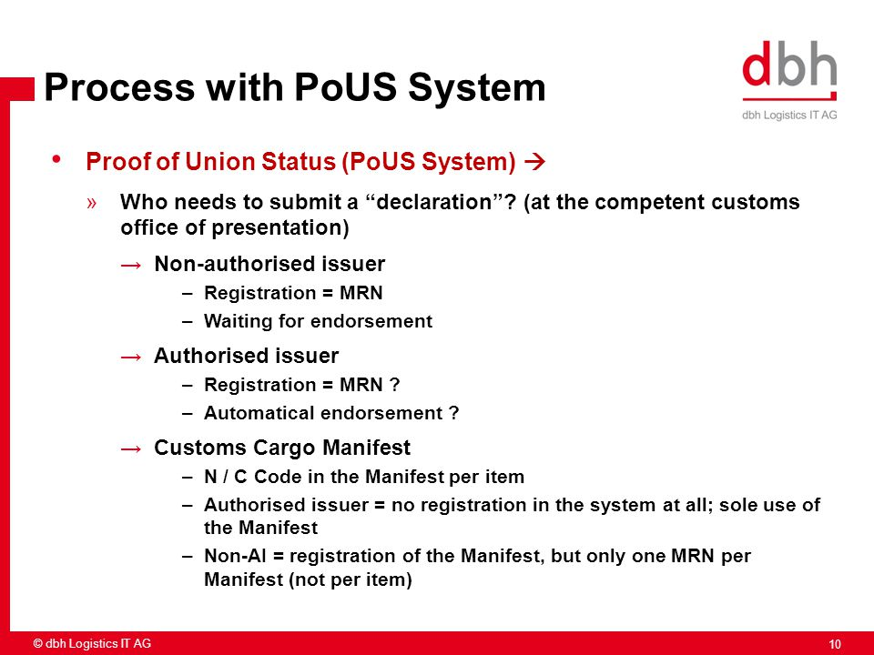 Process with PoUS System