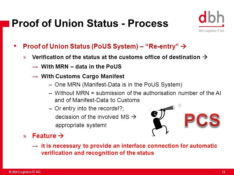 PCS Proof of Union Status - Process