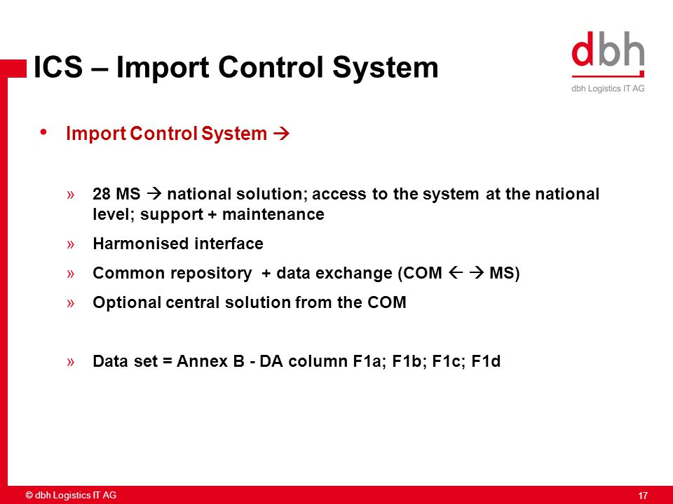 ICS – Import Control System