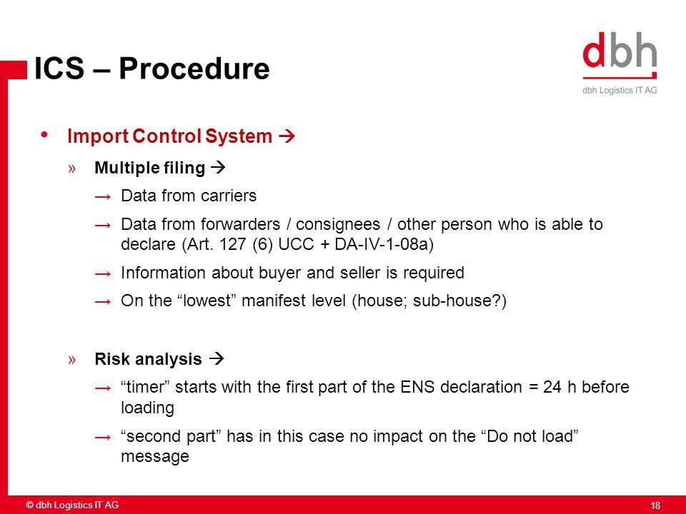 ICS – Procedure Import Control System  Multiple filing 