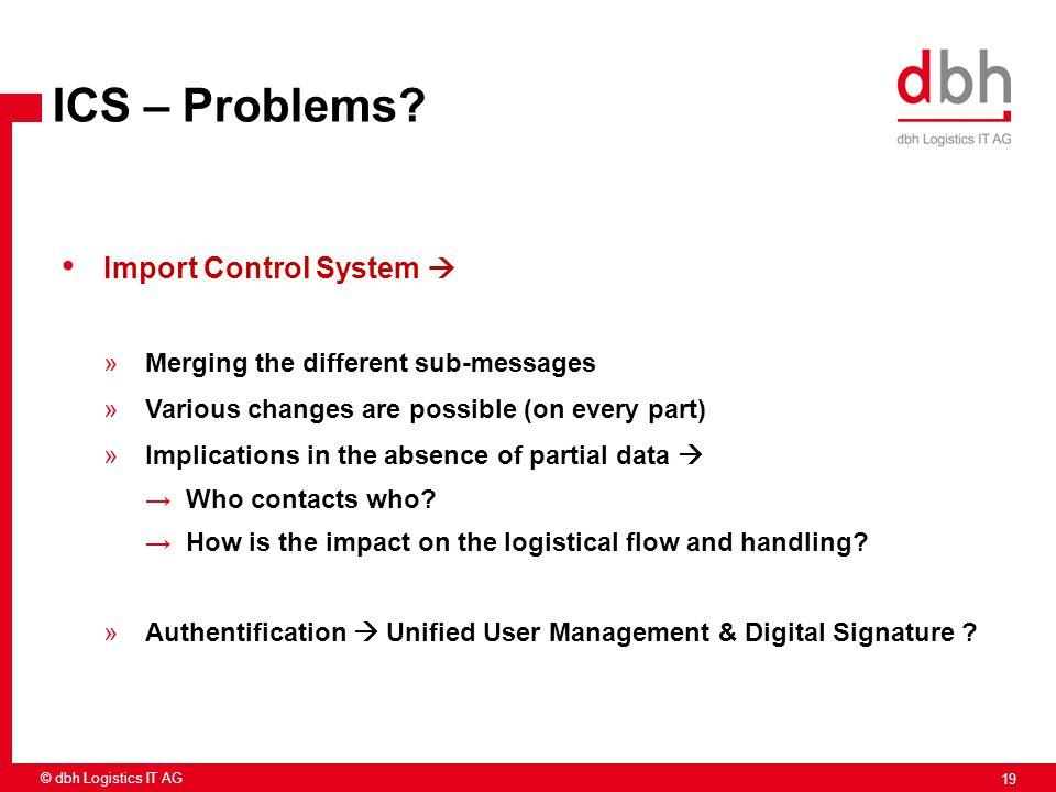 ICS – Problems Import Control System 