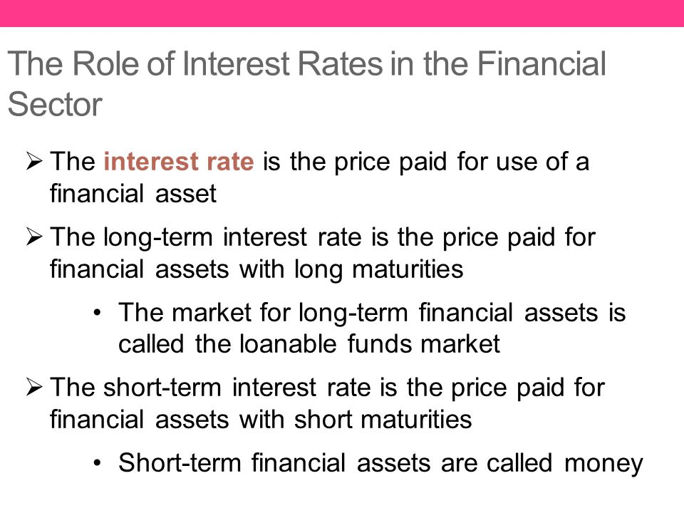 The Role of Interest Rates in the Financial Sector
