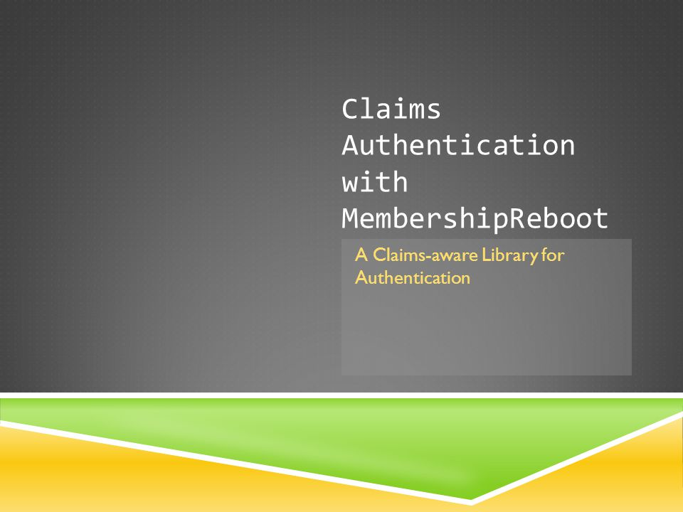 Claims Authentication with MembershipReboot