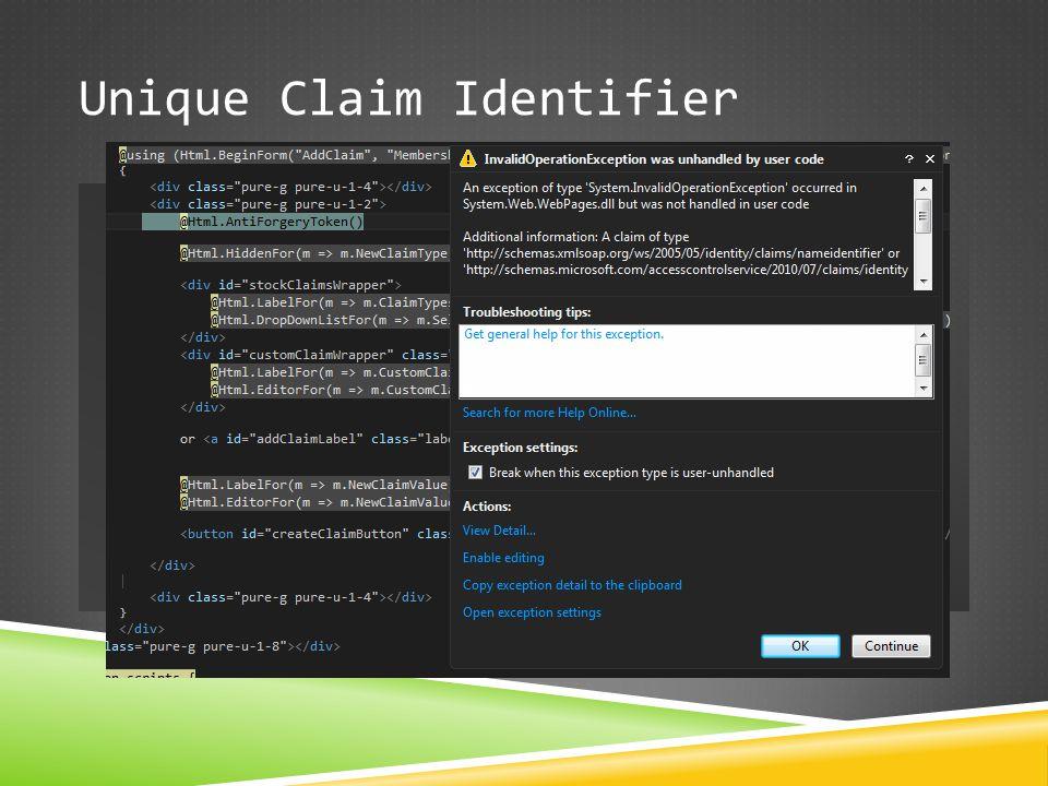 Unique Claim Identifier