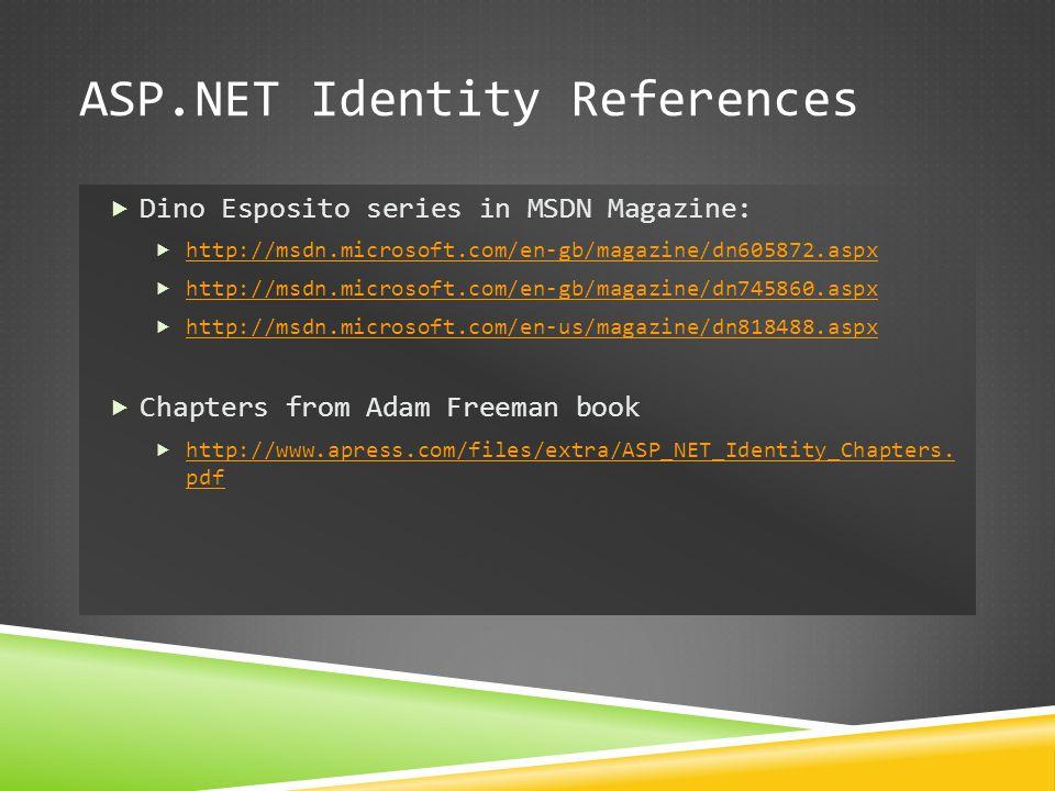 ASP.NET Identity References
