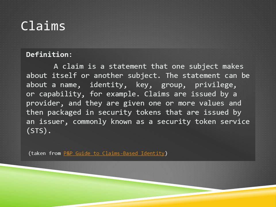 Claims Definition: