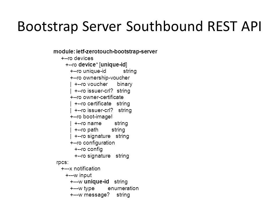 Bootstrap Server Southbound REST API