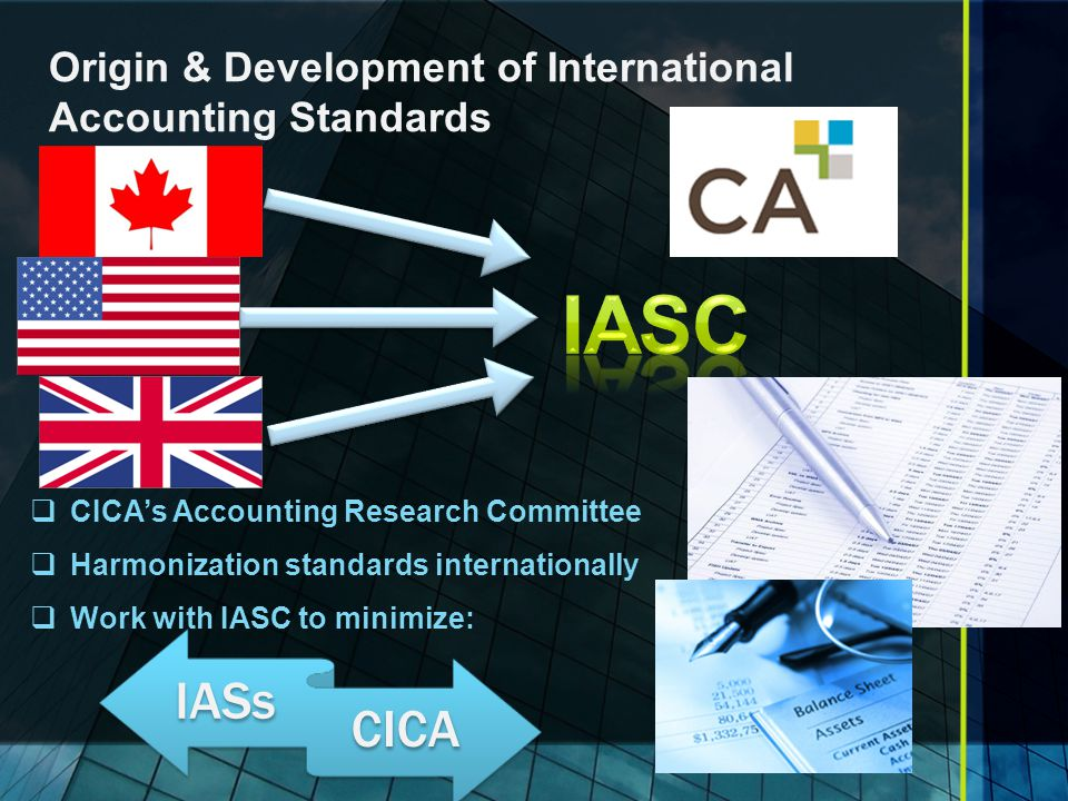 Origin & Development of International Accounting Standards