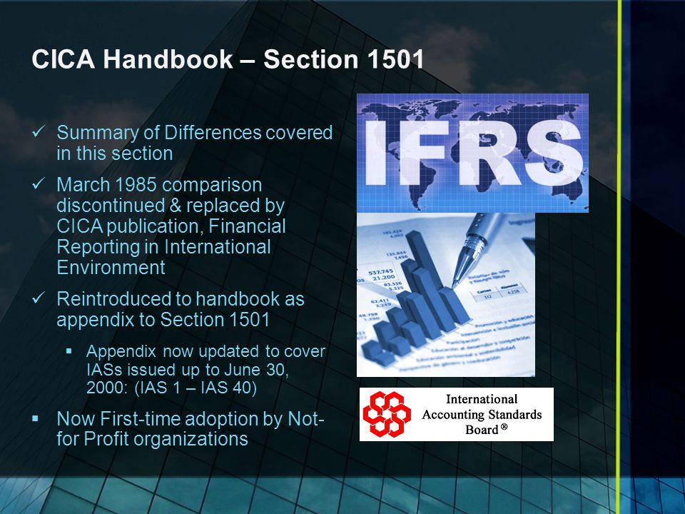 CICA Handbook – Section 1501