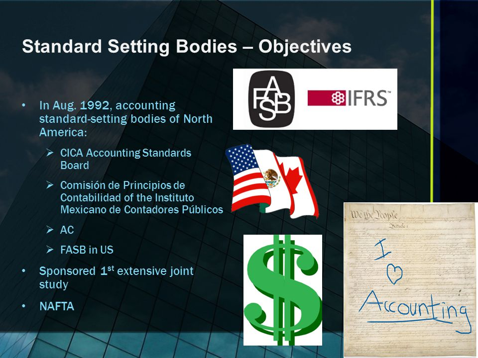 Standard Setting Bodies – Objectives