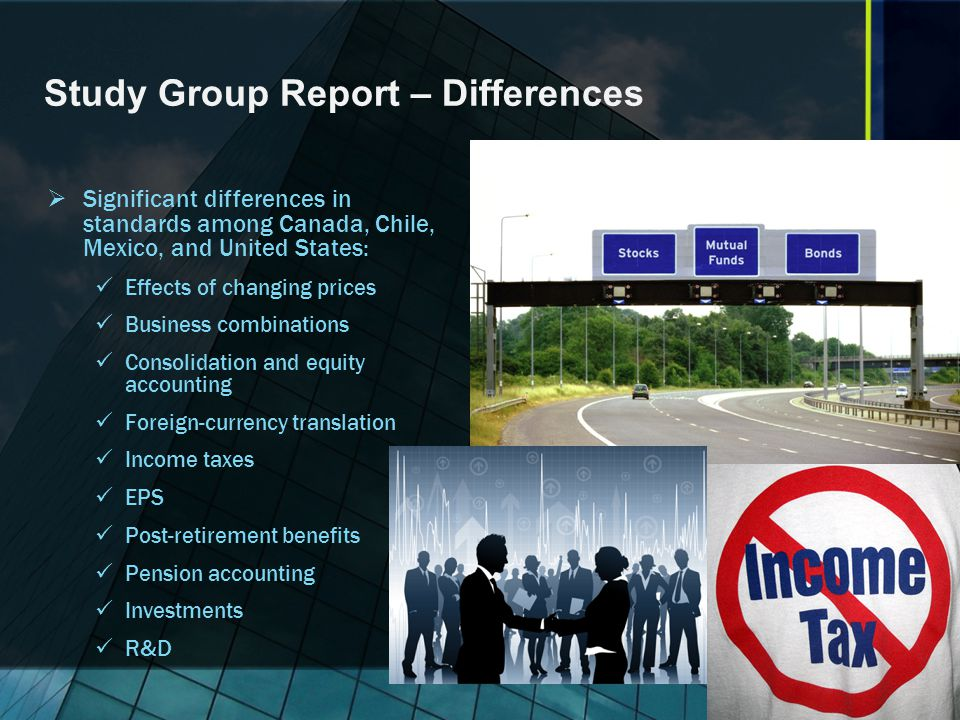 Study Group Report – Differences