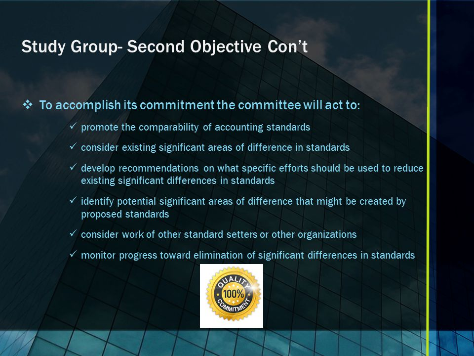 Study Group- Second Objective Con't