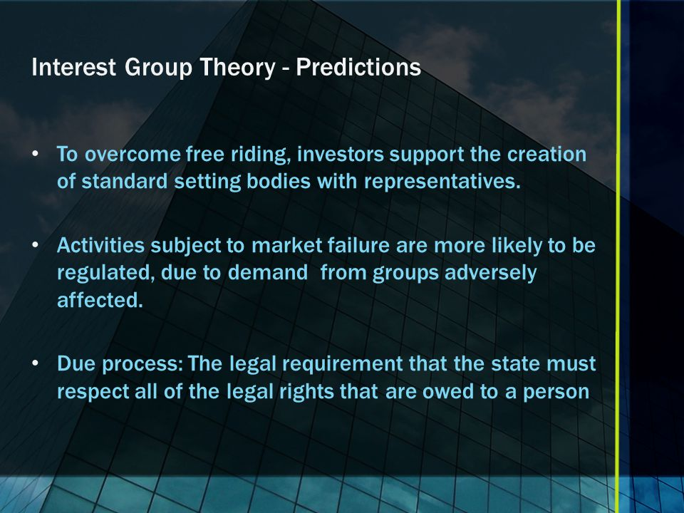 Interest Group Theory - Predictions