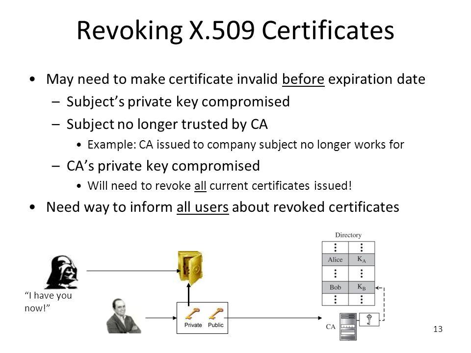 Revoking X.509 Certificates