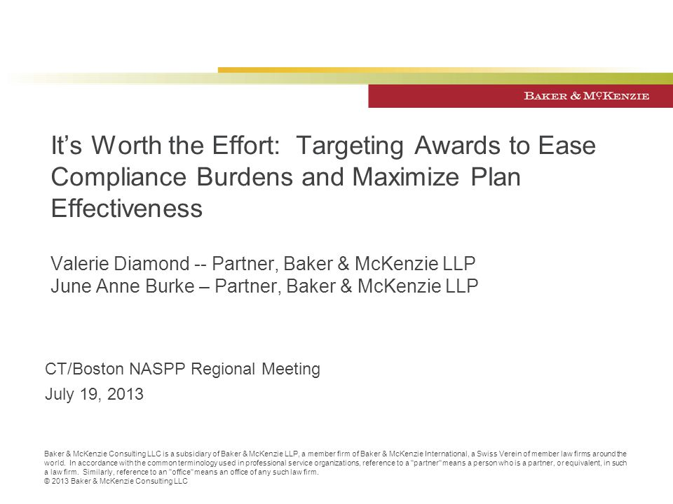 It's Worth the Effort: Targeting Awards to Ease Compliance Burdens and Maximize Plan Effectiveness