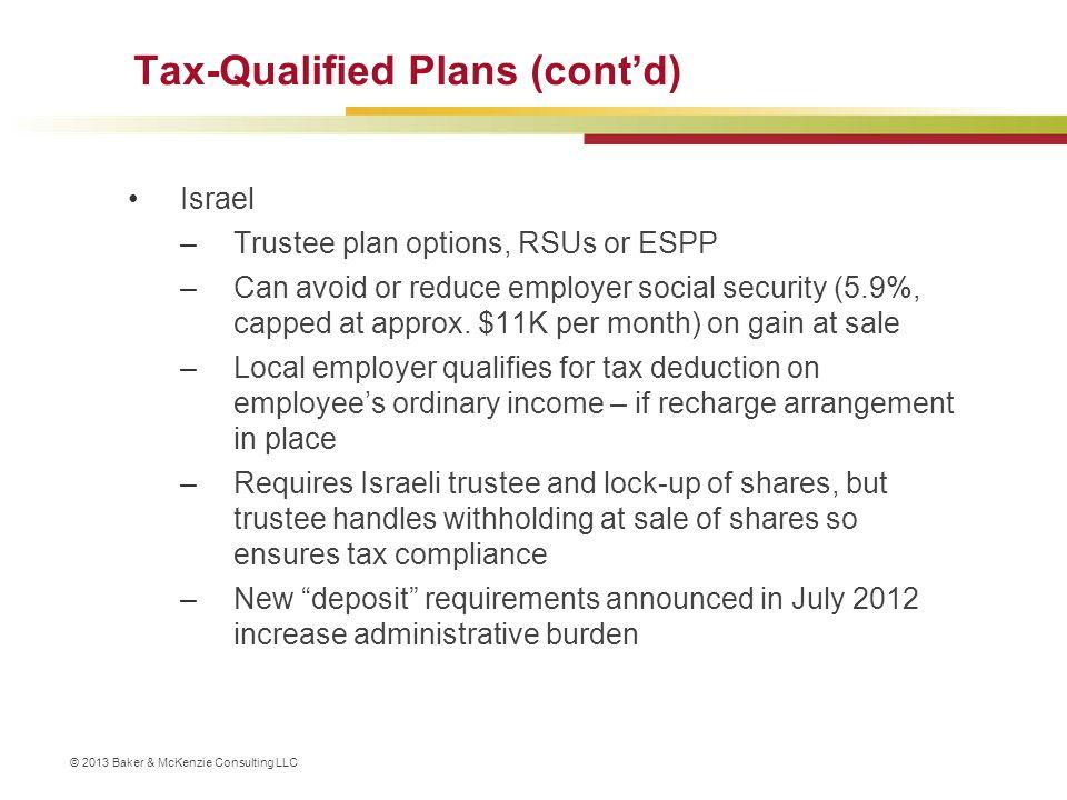 Tax-Qualified Plans (cont'd)