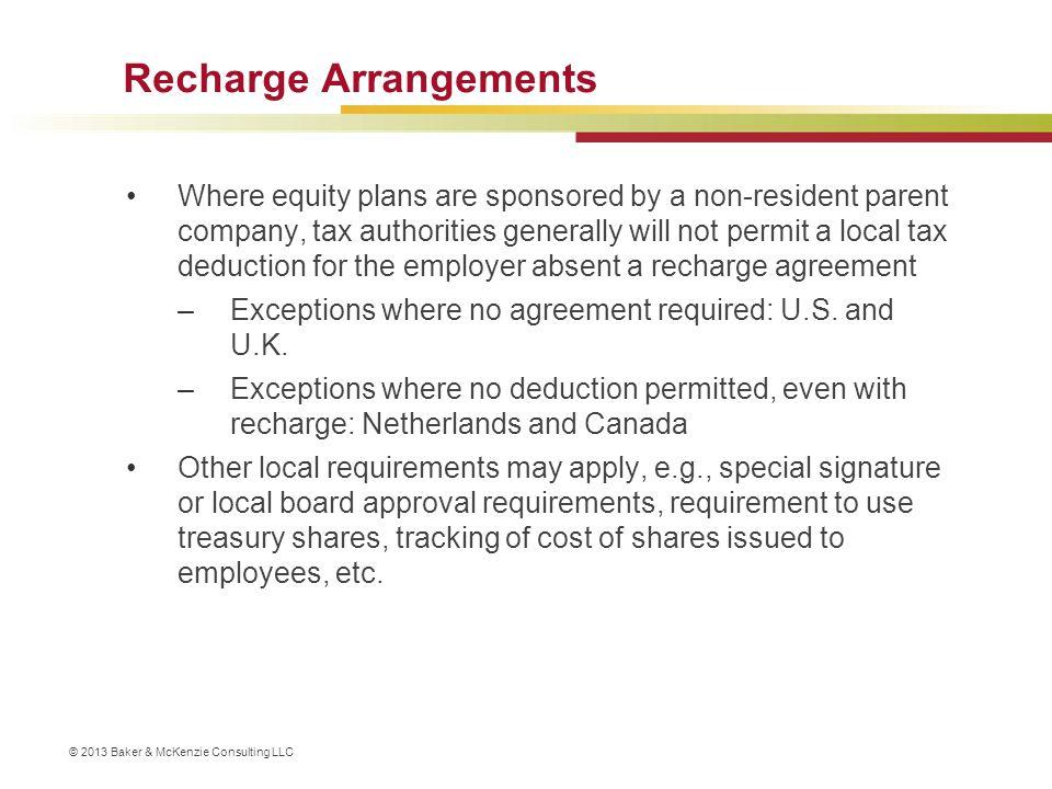 Recharge Arrangements