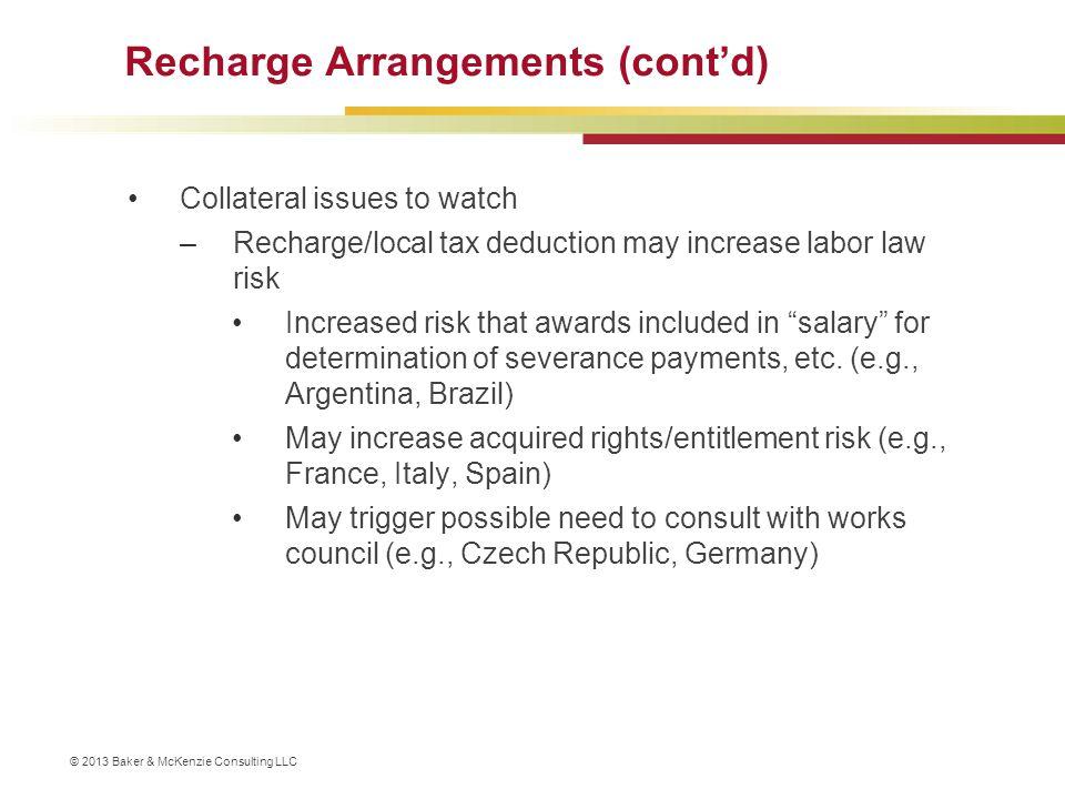 Recharge Arrangements (cont'd)