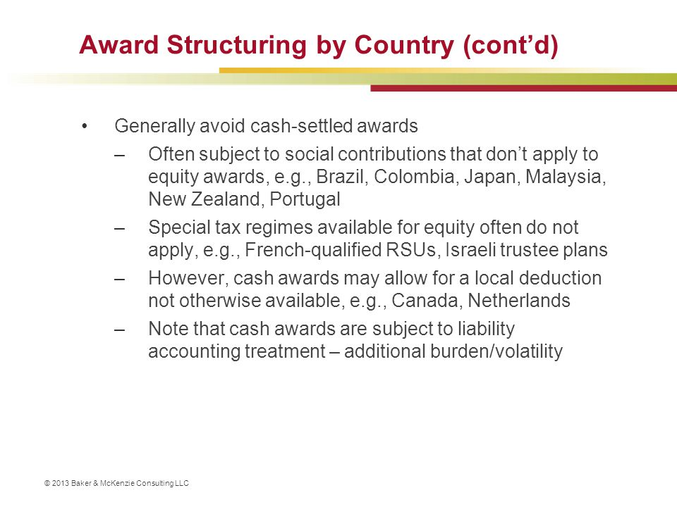 Award Structuring by Country (cont'd)