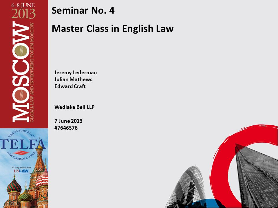 Master Class in English Law