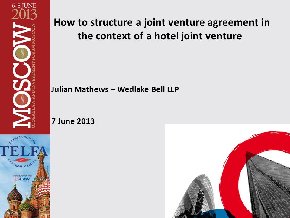 How to structure a joint venture agreement in
