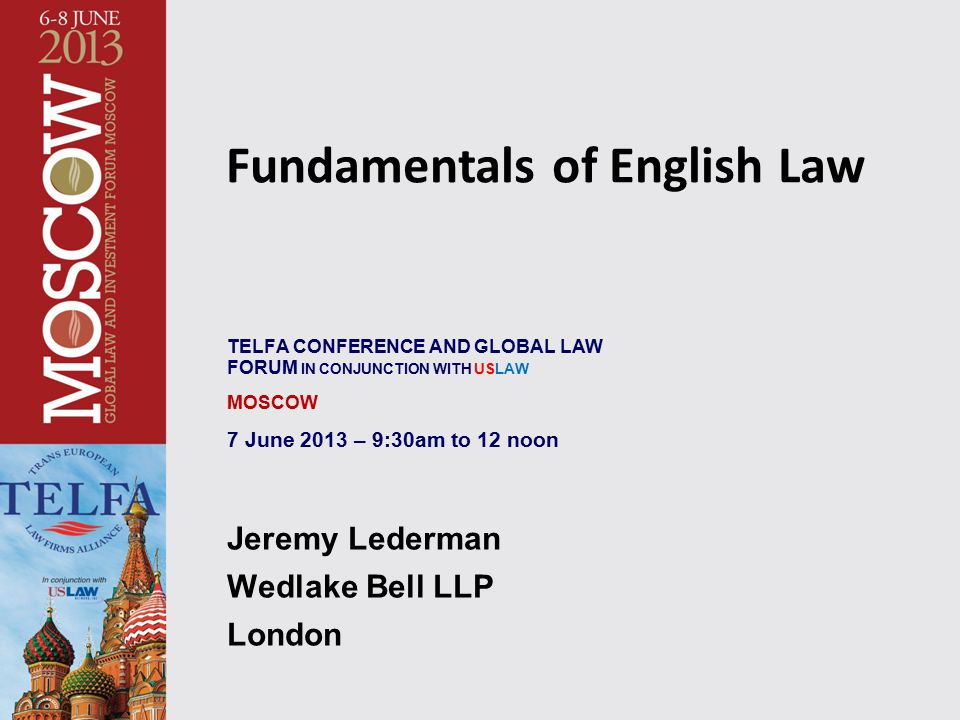 Fundamentals of English Law