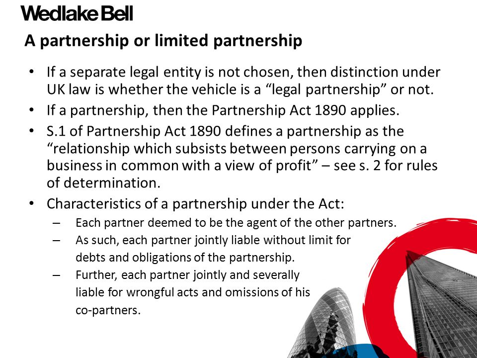 A partnership or limited partnership
