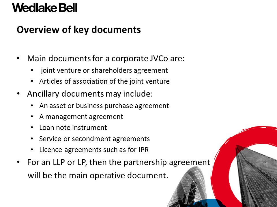 Overview of key documents
