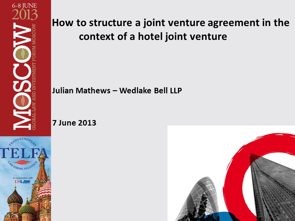 How to structure a joint venture agreement in the