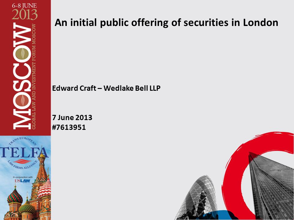 An initial public offering of securities in London