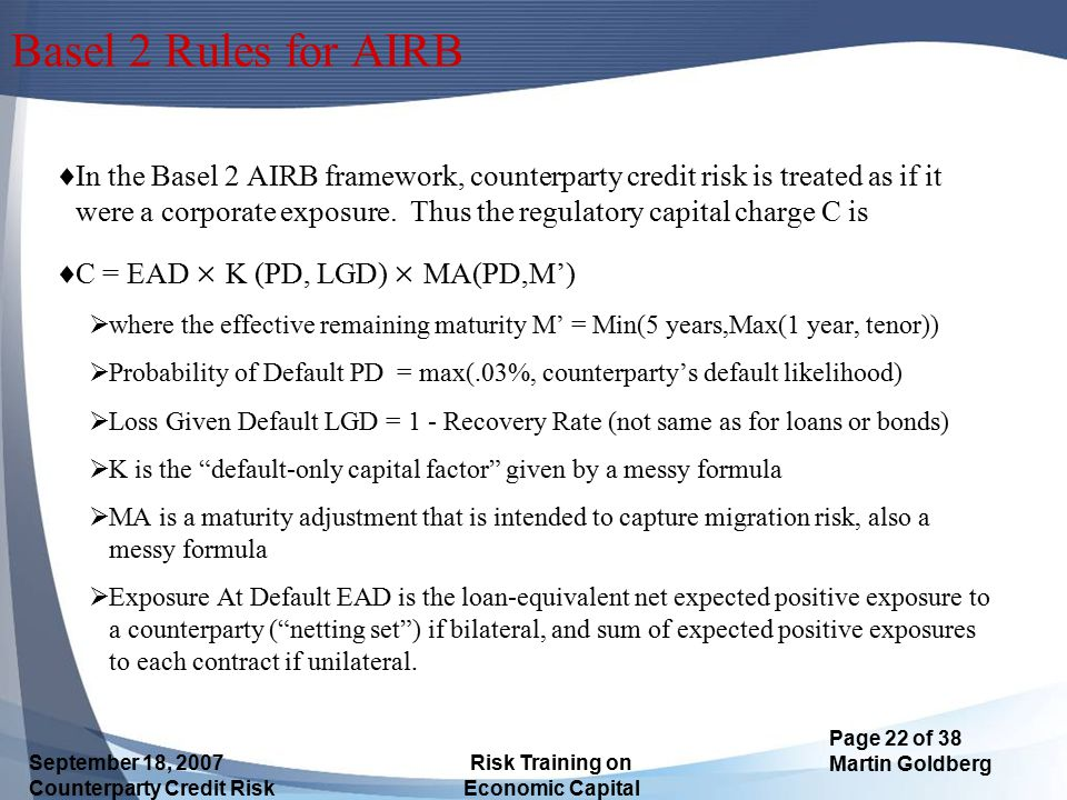 Basel 2 Rules for AIRB