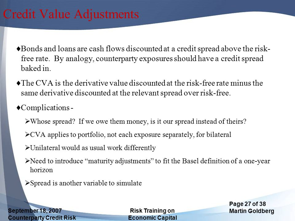 Credit Value Adjustments