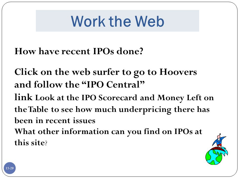 Work the Web How have recent IPOs done
