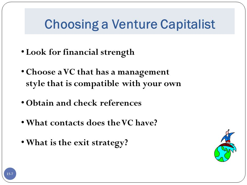 Choosing a Venture Capitalist