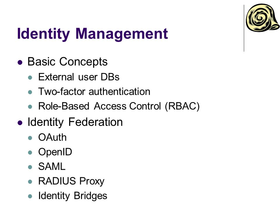 Identity Management Basic Concepts Identity Federation