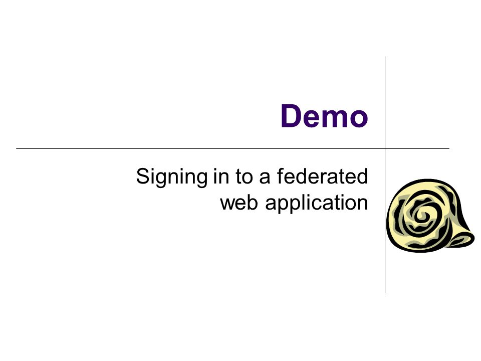 Signing in to a federated web application