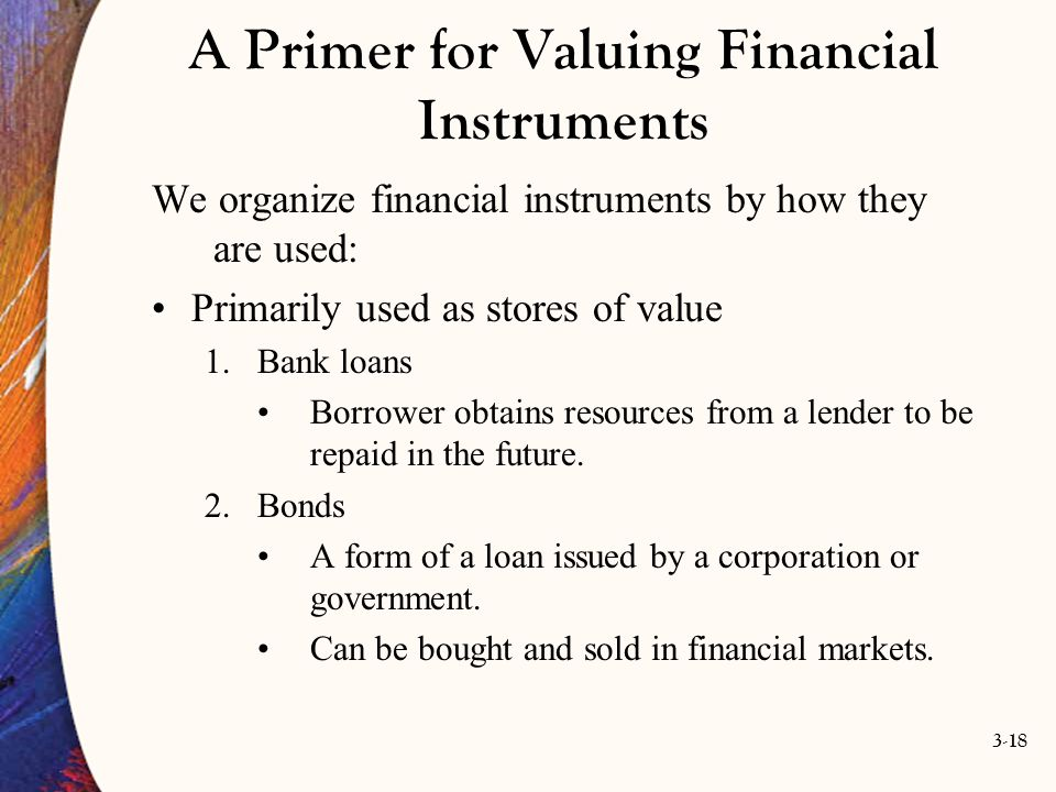 A Primer for Valuing Financial Instruments