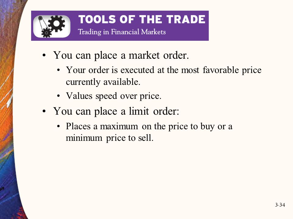 You can place a market order.