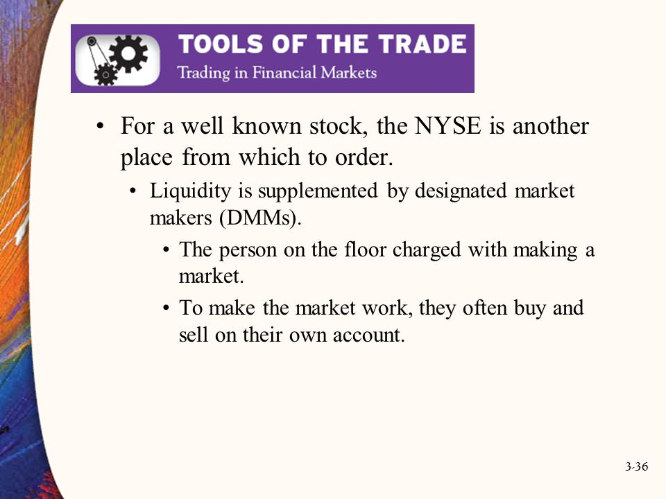 For a well known stock, the NYSE is another place from which to order.