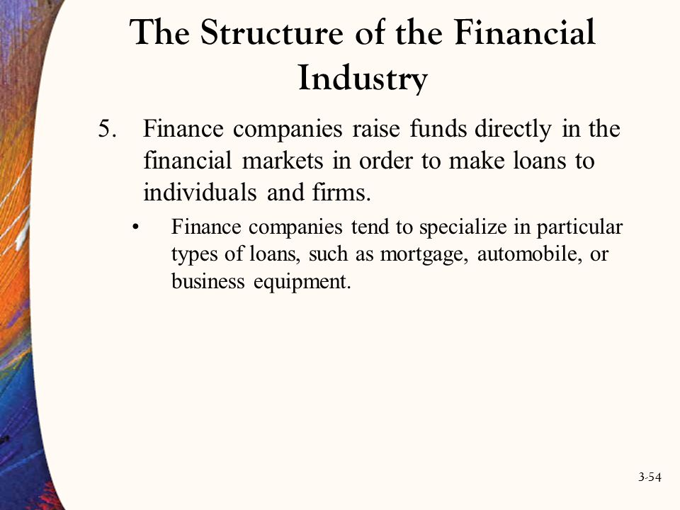 The Structure of the Financial Industry