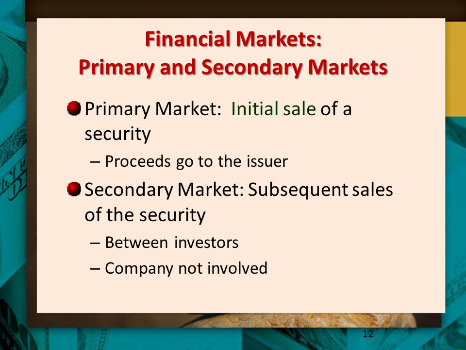 Financial Markets: Primary and Secondary Markets