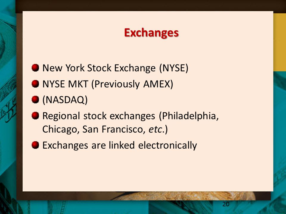 Exchanges New York Stock Exchange (NYSE) NYSE MKT (Previously AMEX)