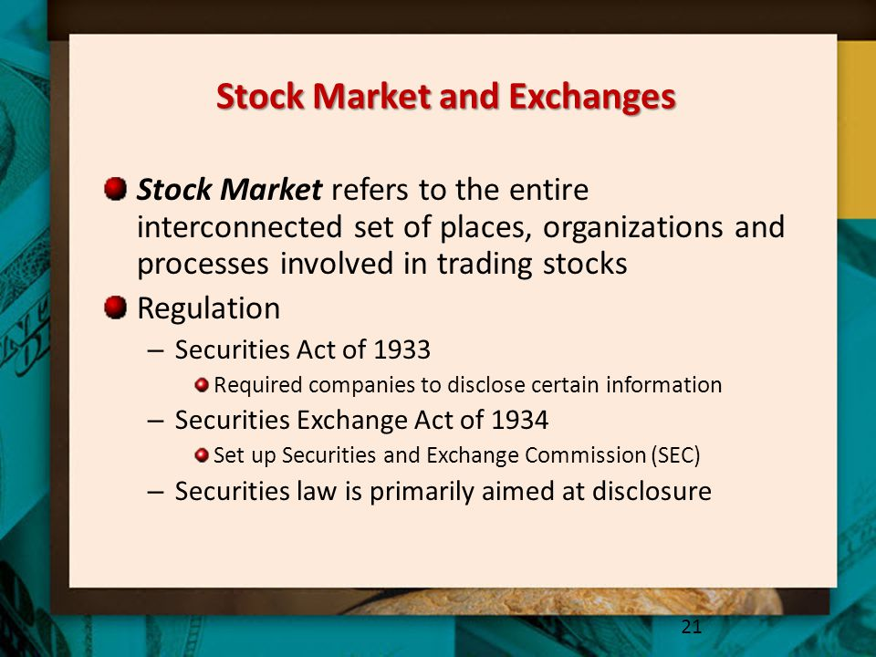 Stock Market and Exchanges