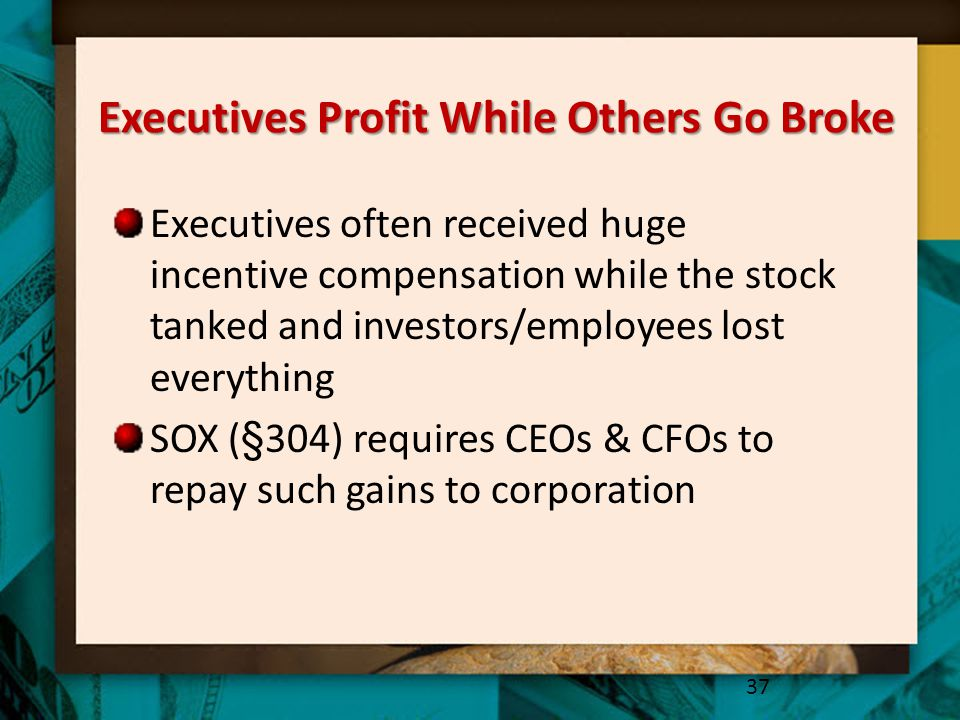 Executives Profit While Others Go Broke